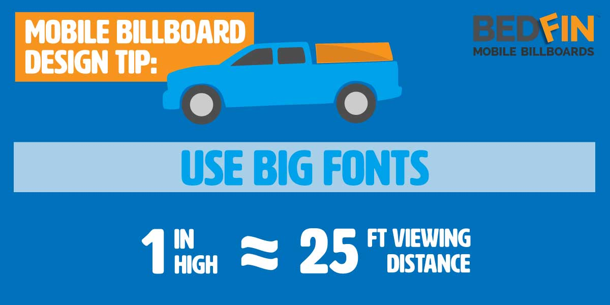 design tip about font hight for maximum visibility